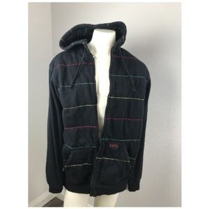 MATRIX XL Jacket Black w/ Hoodie Cotton Heavyweigh